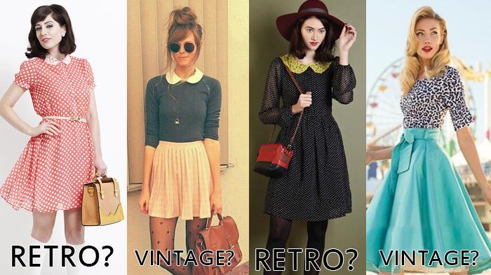 Perbedaan Retro dan Vintage Fashion Style